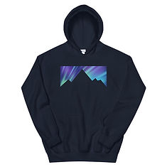Aurora Mountains - Hoodie (Multi Colors) The Rocky Mountains, Canadian American Rockies
