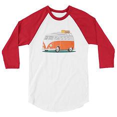 Campervan - 3/4 sleeve raglan shirt (Multi Colors) The Rocky Mountains, Canadian American Rockies