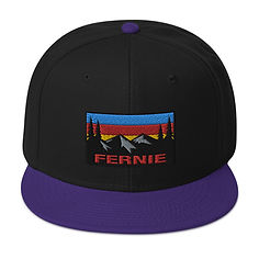 Fernie British Columbia - Snapback Hat (Multi Colors) Canadian Rocky Mountains The Rockies