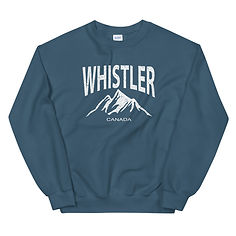 Whistler British Columbia Canada - Sweatshirt (Multi Colors) The Rockies Canadian Rocky Mountains