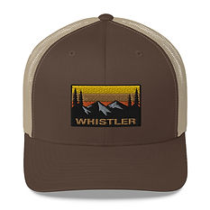 Whistler British Columbia - Trucker Cap (Multi Colors) Canadian Rocky Mountains