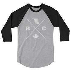 British Columbia Lifestyle - 3/4 sleeve raglan shirt (multi Colors) The Rockies Canadian Rocky Mountains