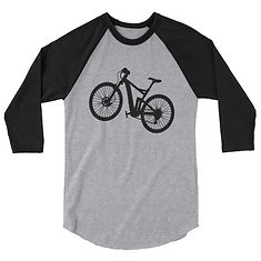 Bicycle - 3/4 sleeve raglan shirt (Multi Colors) The Rocky Mountains Canadian American Rockies