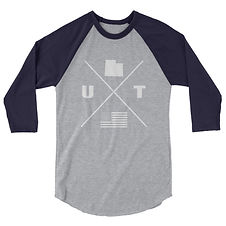 Utah Lifestyle - 3/4 sleeve raglan shirt (Multi Colors) The Rockies American Rocky Mountains