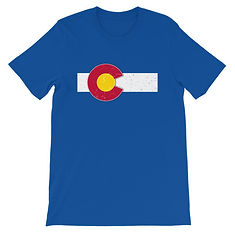 Colorado Flag USA - T-Shirt (Multi Colors) The Rockies American Rockies The Rocky Mountains