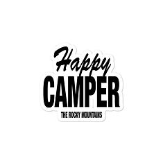 Happy Camper - Vinyl Bubble-free sticker