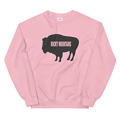 Rocky Mountain Bison - Sweatshirt (Multi Colors) The Rockies Canadian American Rocky Mountains