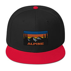 Alpine - Snapback Hat (Multi Colors) The Rockies American Canadian Rocky Mountains