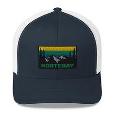 Kootenay British Columbia - Trucker Cap (Multi Colors) The Rocky Mountains Canadian Rockies