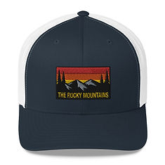 The Rocky Mountains - Trucker Cap (Multi Colors) American Canadian Rockies