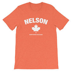 Nelson British Columbia Canada - T-Shirt (Multi Colors) The Rockies Canadian Rocky Mountains