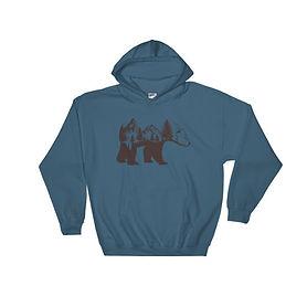 Bear Landscape - Hooded Sweatshirt (Multi Colors)