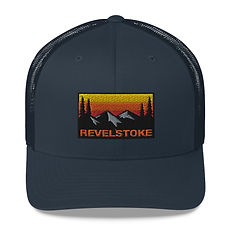 Revelstoke British Columbia - Trucker Cap (Multi Colors) The Rockies Canadian Rocky Mountains