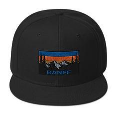 Banff Alberta Canada - Snapback Hat (Multi Colors) Canadian Rocky Mountains