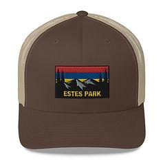 Estes Park Colorado - Trucker Cap (Multi Colors) The Rockies American Rocky Mountains