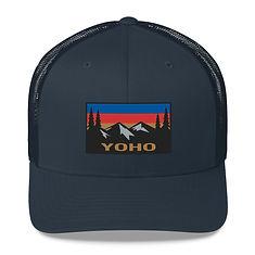 Yoho British Columbia - Trucker Cap (Multi Colors) The Rockies Canadian Rocky Mountains