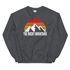 The Rocky Mountains - Sweatshirt (Multi Colors) The Rockies American Canadian Rocky Mountains