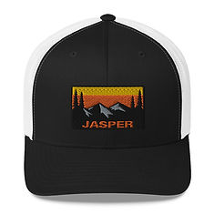 Jasper Alberta Canada - Trucker Cap (Multi Colors) Canadian Rockies