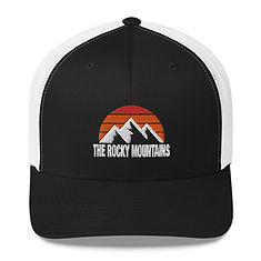 The Rocky Mountains - Trucker Cap (Multi Colors) The Rocky Mountains Canadian American Rockies