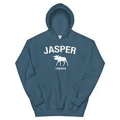 Jasper Moose Alberta Canada - Hooded Sweatshirt (Multi Colors) The Rockies Canadian Rocky Mountains