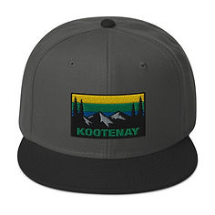 Kootenay British Columbia - Snapback Hat (Multi Colors) The Rocky Mountains Canadian Rockies