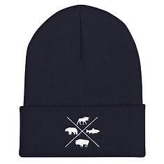 The Rockies Collection - The Rockies Wildlife - Cuffed Beanie (Multi Colors)