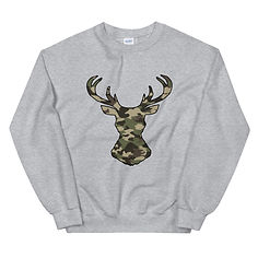 Deer Head Forest (Hunting) Camo - Sweatshirt (Multi Colors)