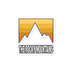 The Rocky Mountains - Vinyl Bubble-free Sticker