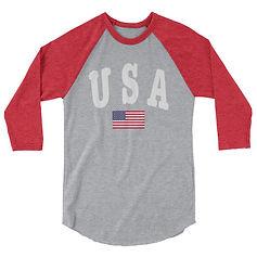 USA - 3/4 sleeve raglan shirt