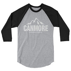 Canmore Alberta Canada - 3/4 sleeve raglan shirt (Multi Colors) The Rockies Canadian Rocky Mountains