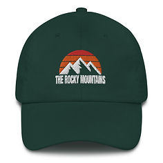 The Rocky Mountains - Baseball / Dad hat (Multi Colors) Canadian American Rockies