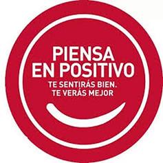 logo de la campaña piensa en positivo