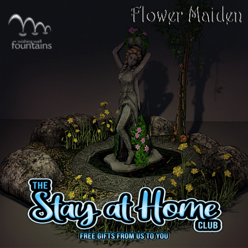 Wishing Well Fountains - Flower Maiden