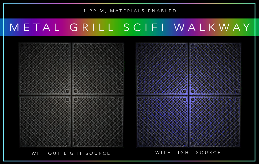 Metal Grill Scifi Walkway SL[3946]