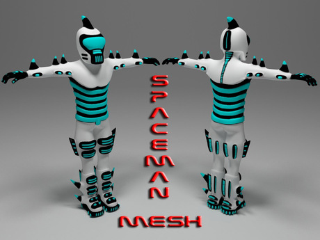 Funny Mesh Avatar - Spaceman