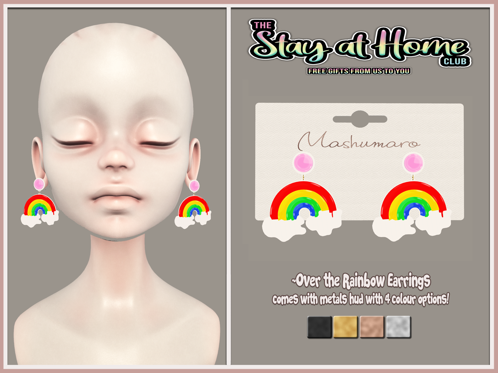 [Mashumaro] - Over the rainbow Earrings