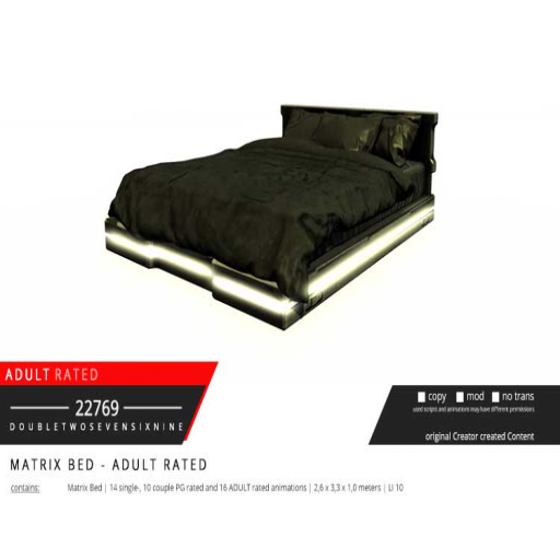 22769 - Matrix Bed - ADULT [ad]