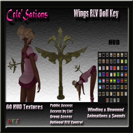 Cele' Sations - Wings RLV Doll Key