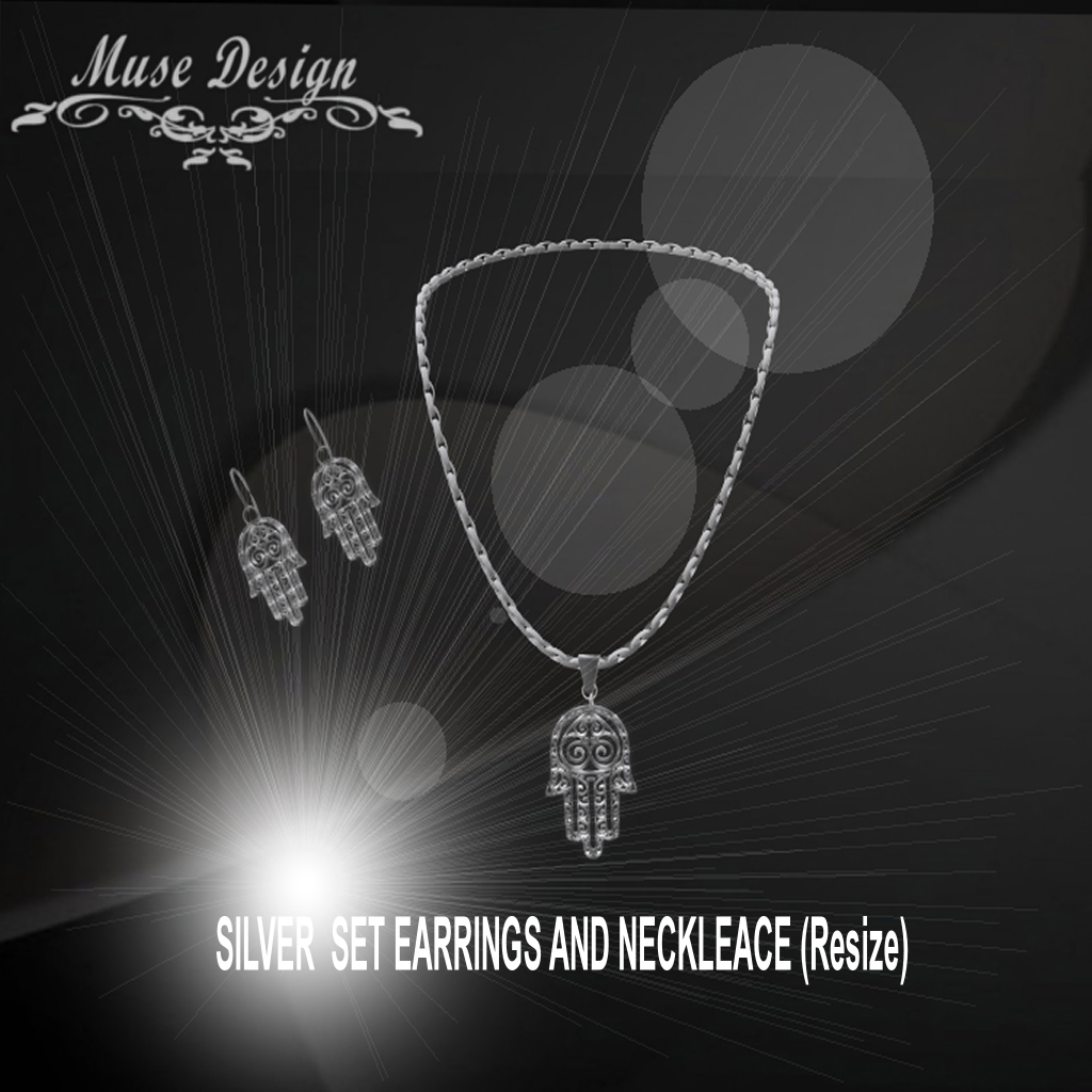 MUSE - Silver Set Earrings & Necklace