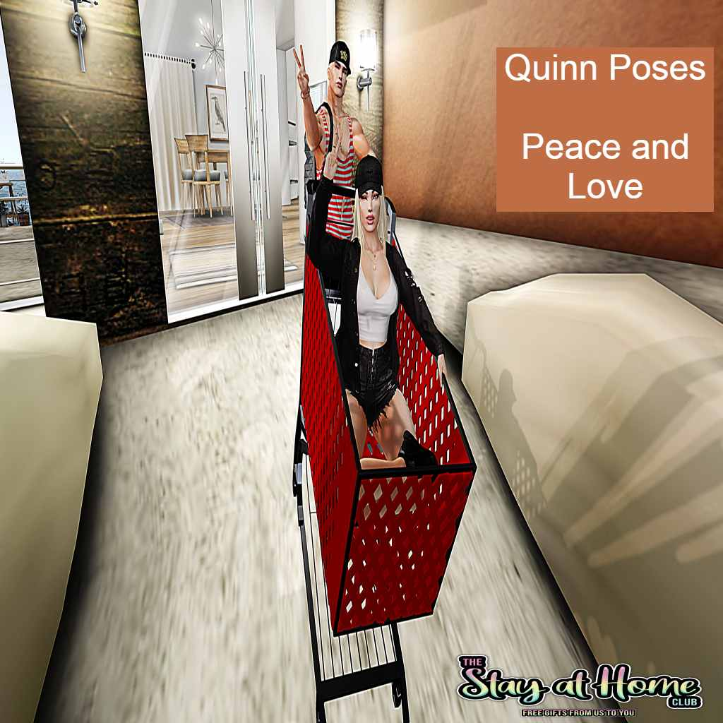 Quinn Poses - Peace and Love