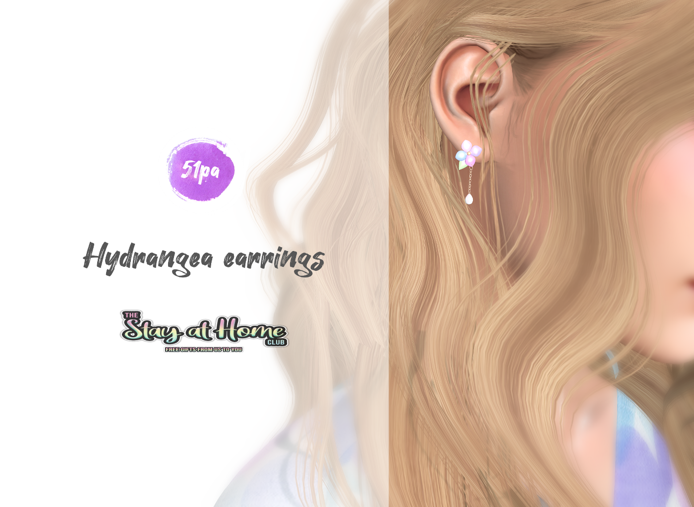 51pa - Hydrangea Earrings