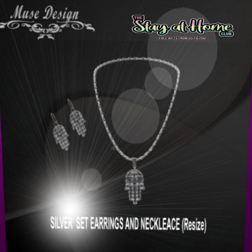 Muse Design - Silver Earrings and Necklace