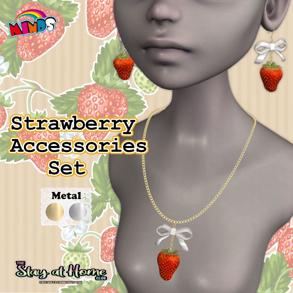 [MINDS] - Strawberry Accessories Set