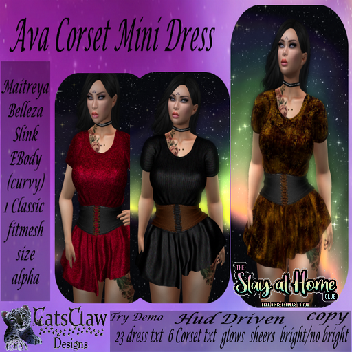 Cats Claw Design - Ava Corset Mini Dress + HUD