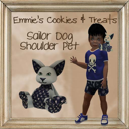 Emmie's Cookies & Treats - Sailor Dog Shoulder Pet