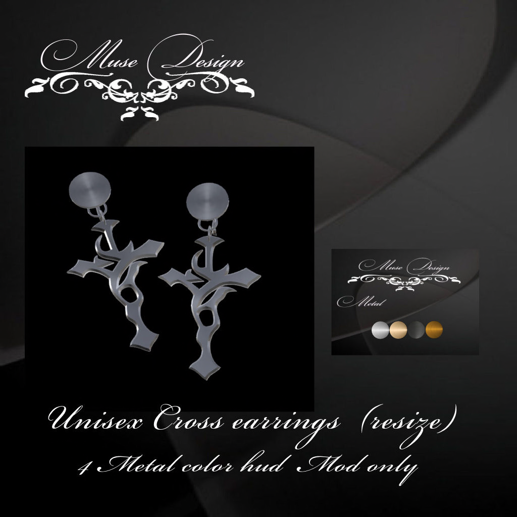 Muse Design - Cross Earrings