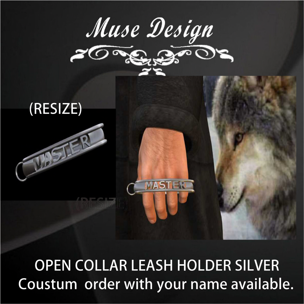 Muse Design - Open Collar Leash Holder Silver