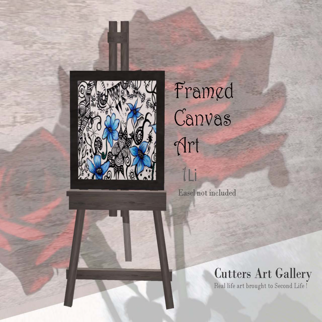 Cutters Art Gallery - Framed Canvas Art (easel not included)