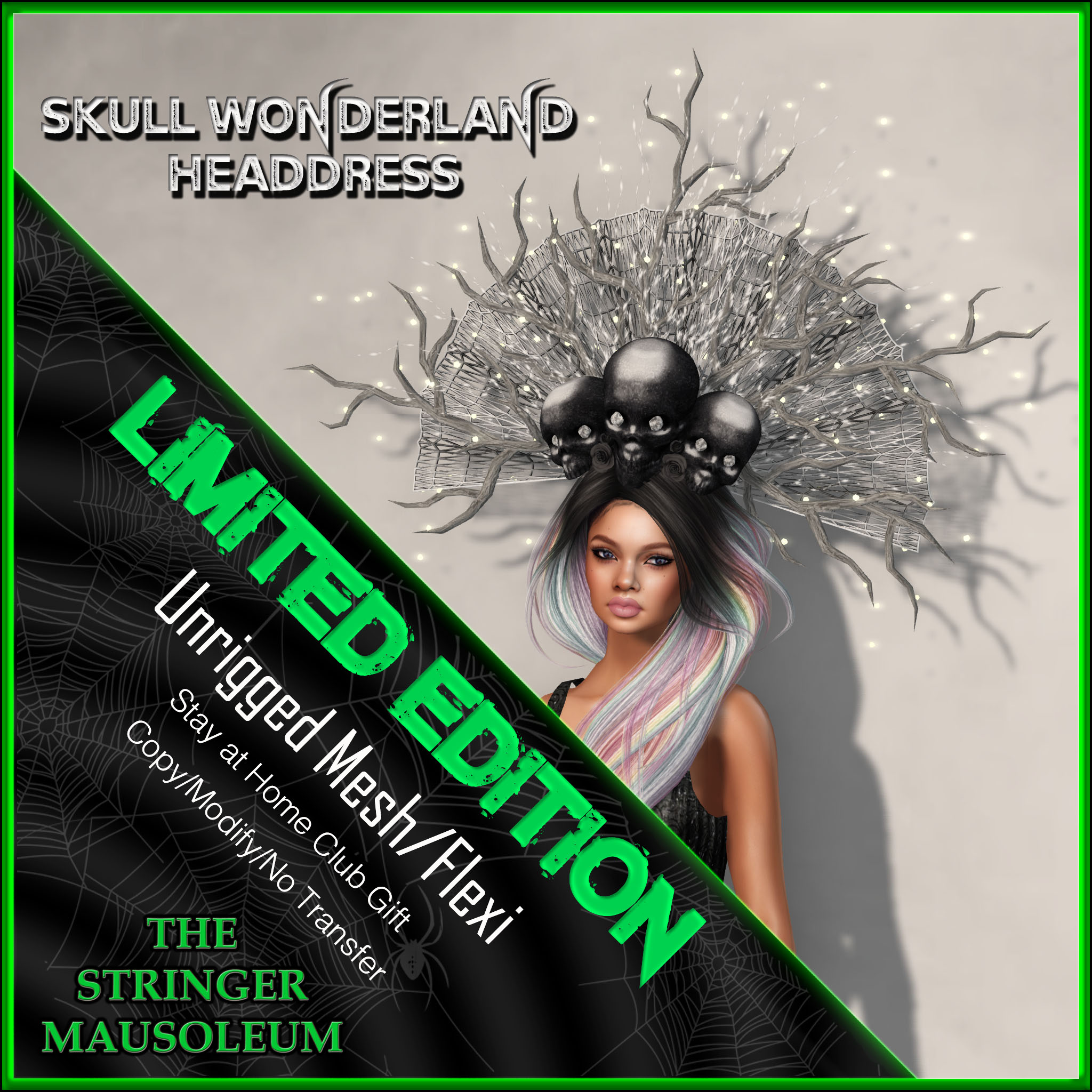 The Stringer Mausoleum - Skull Wonderland Headdress