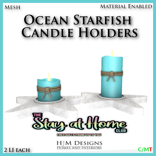 HJM Designs - Ocean Starfish Candle Holders